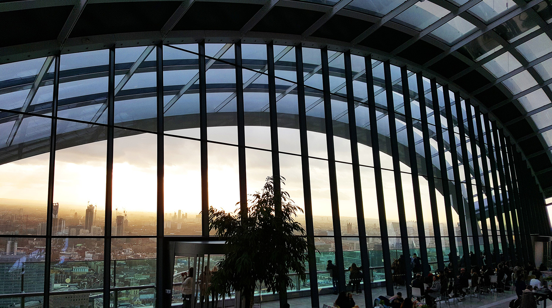View from Sky Garden across London in Winter