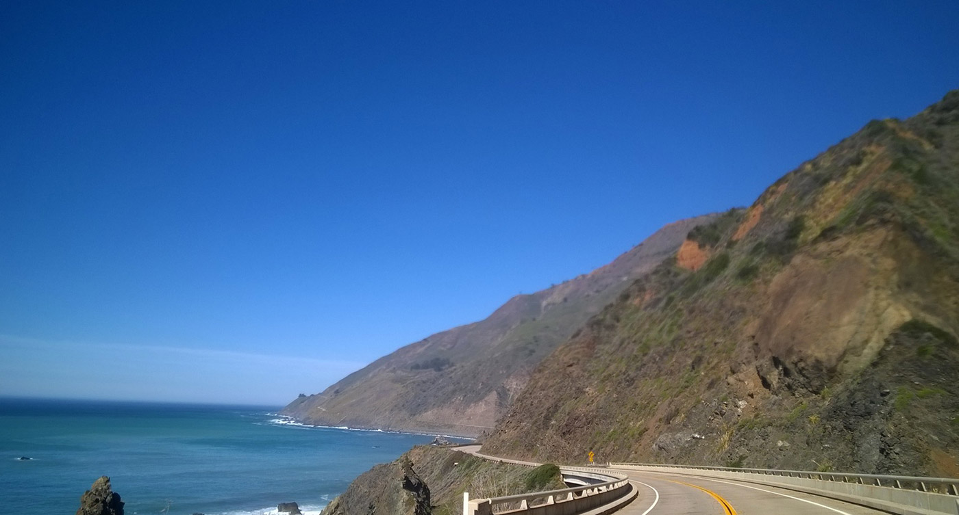 California's Big Sur and Mountainous Coast Line
