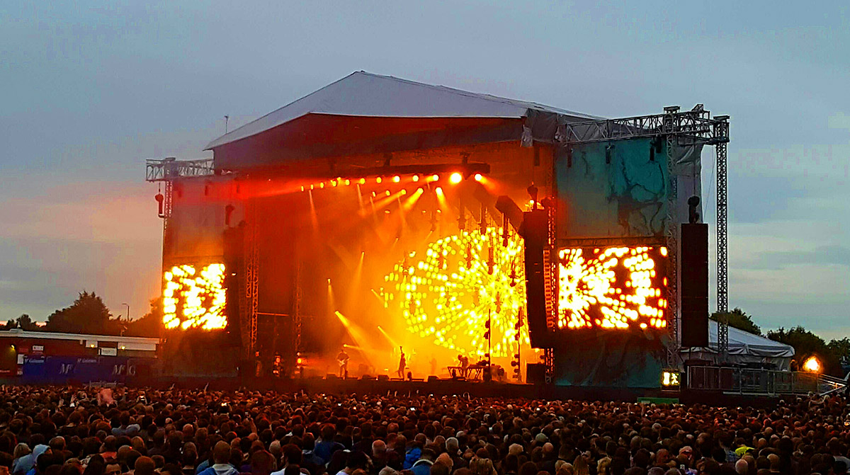 Radiohead at their Emirates Old Trafford concert 4 July 2017